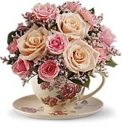 000 Victorian Teacup Bouquet