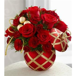 2 Season's Greetings™ Bouquet - VASE INCLUDED