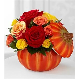 Bountiful™ Rose Bouquet - VASE INCLUDED