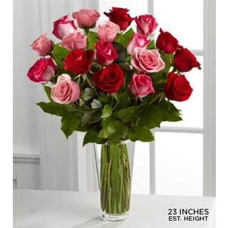 0 True Romance™ Rose Bouquet - VASE INCLUDED