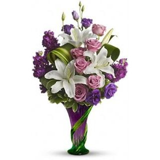 Indulge Her Bouquet - Lavender Roses