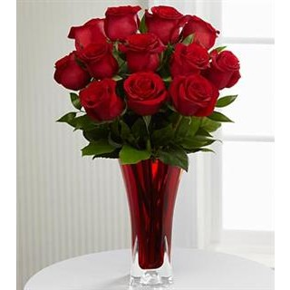 0 In Love with Red Roses™ Bouquet - VASE INCLUDED